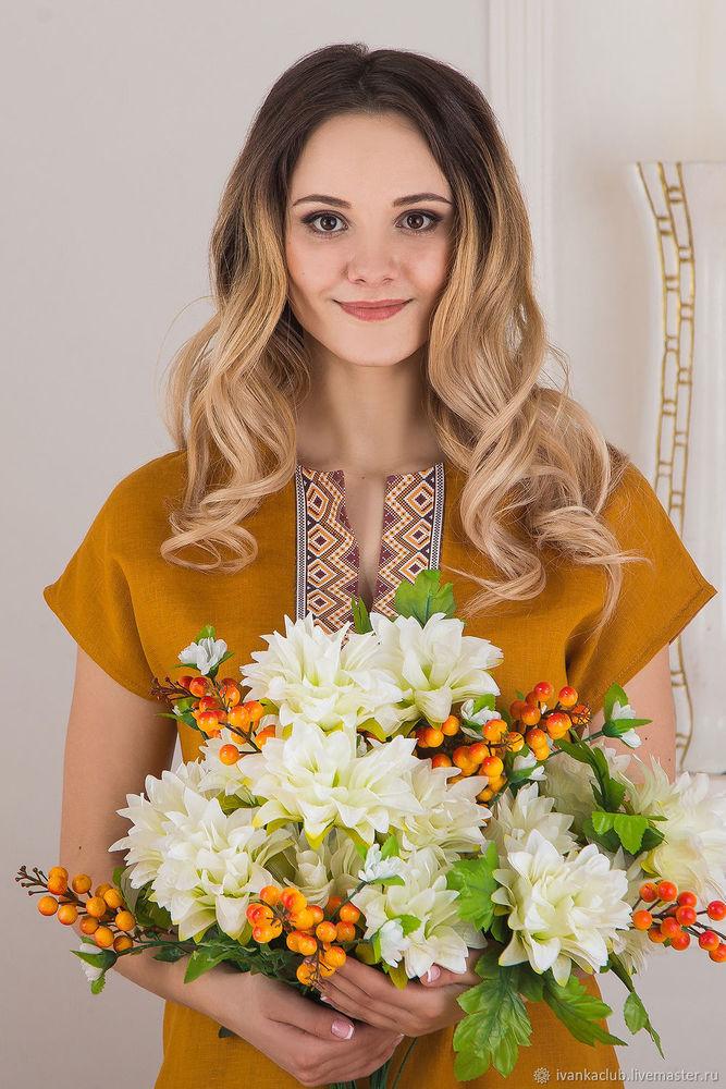 иванка, льняная одежда, льняное платье, традиции, русский стиль