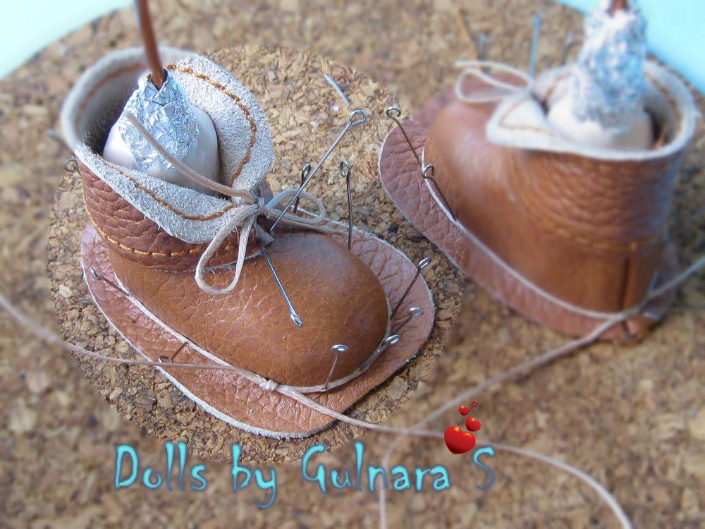 обувь для кукол, кожаные ботиночки
