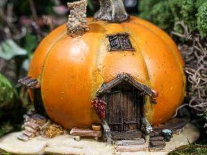 Милые и уютные тыквенные домики. Ярмарка Мастеров - ручная работа, handmade.