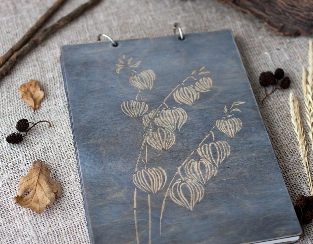 альбом для рисунков, деревянный альбом, эбеновое дерево, подарок девушке