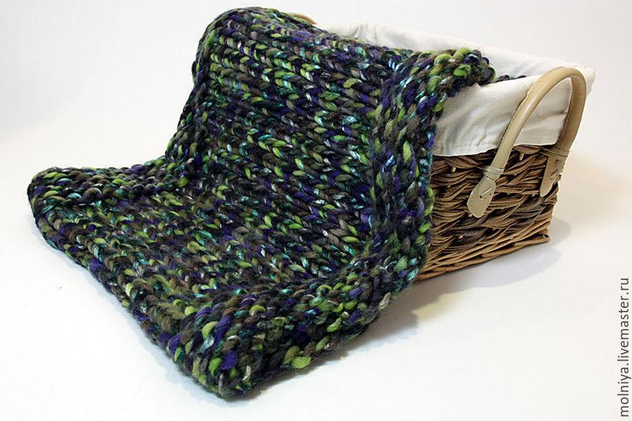 шарф, снуд из толстой пряжи, шарф капор, дизайнерский шарф