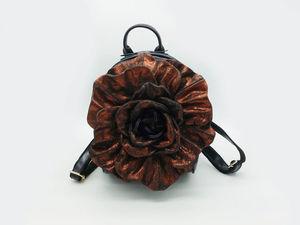 Праздничная акция на кожаные рюкзаки-цветы + видео лотов. Ярмарка Мастеров - ручная работа, handmade.