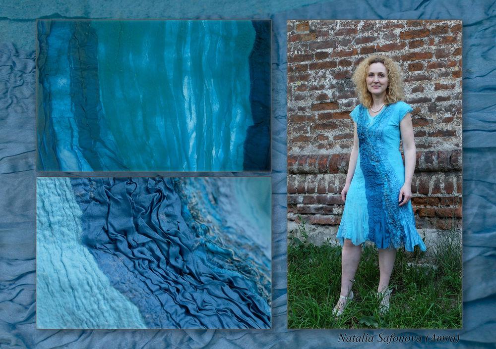 нунофелтинг, валяное платье