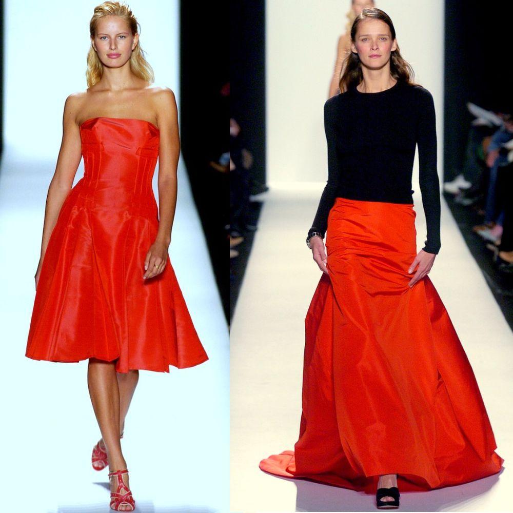 шелк, красный, вечерние платья