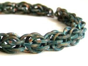 Мастер-класс по кольчужному плетению Fieldstone | Ярмарка Мастеров - ручная работа, handmade