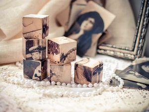 Мастер-класс по декорированию кубиков «Пазлы воспоминаний». Ярмарка Мастеров - ручная работа, handmade.