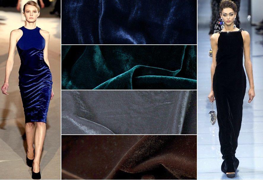 бархат, бархат с шелком, платья из бархата, шелковый бархат, ткани из италии, хит сезона бархат, вечерние ткани, ткани для вечера, выбор бархата