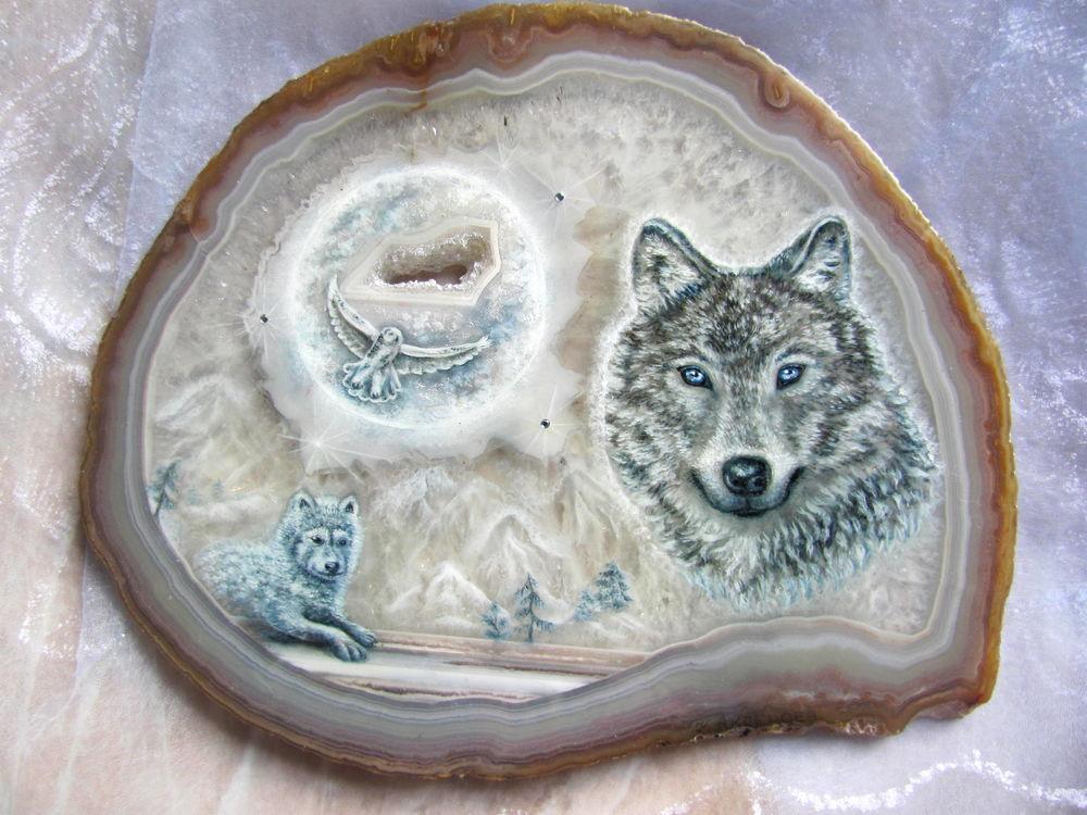 необычный подарок, купить роспись по камню