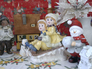 Рождественские и новогодние фигурки — статуэтки. Ярмарка Мастеров - ручная работа, handmade.