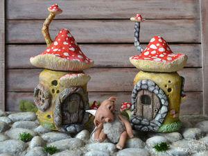Лепим сказочный «Домик-мухомор» | Ярмарка Мастеров - ручная работа, handmade