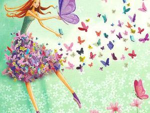 Бабочки в животе. Ярмарка Мастеров - ручная работа, handmade.
