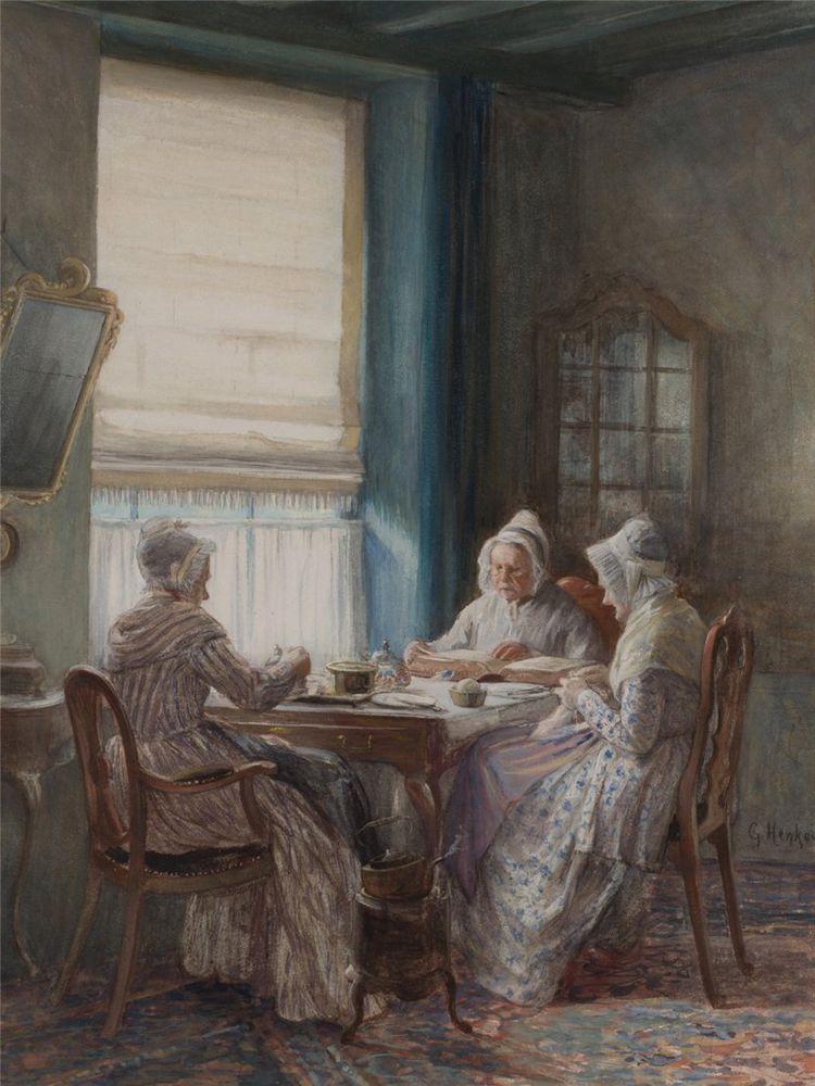 Когда есть чем заняться — стареть некогда: душевные картины о бабушках-рукодельницах, фото № 58