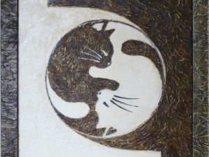 Творим панно «КотЯн-КотИнь» с использованием текстурной пасты. Ярмарка Мастеров - ручная работа, handmade.
