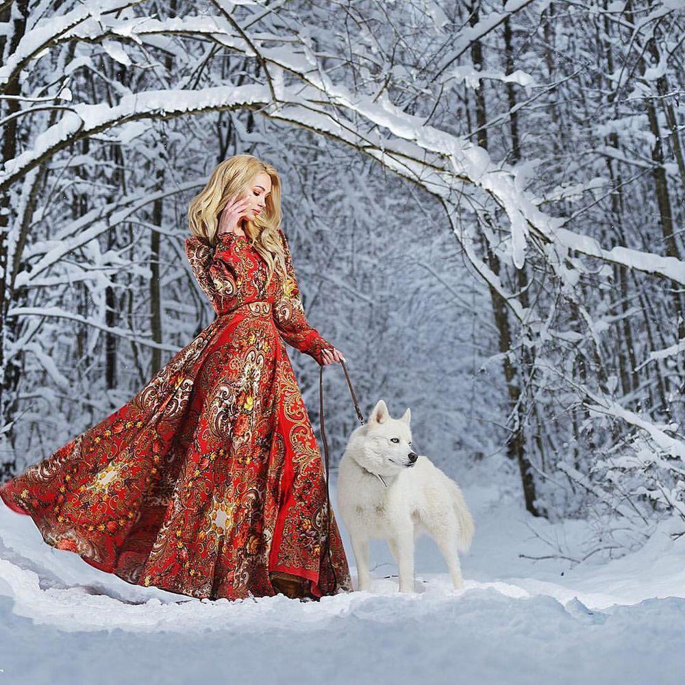 русский стиль, зима 2016