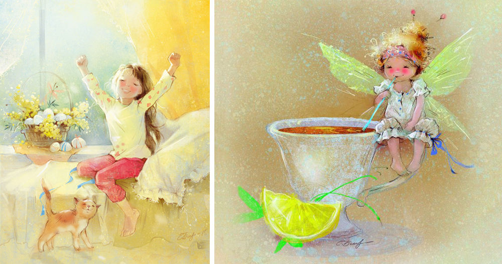 Коллеге, добрая фея открытка