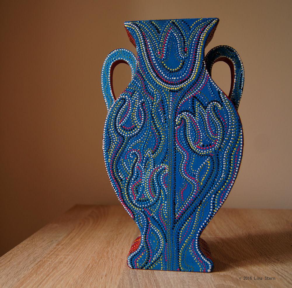 купить вазу, оригинальная роспись