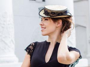 Соломенная шляпка-цилиндр. Наша новинка! | Ярмарка Мастеров - ручная работа, handmade