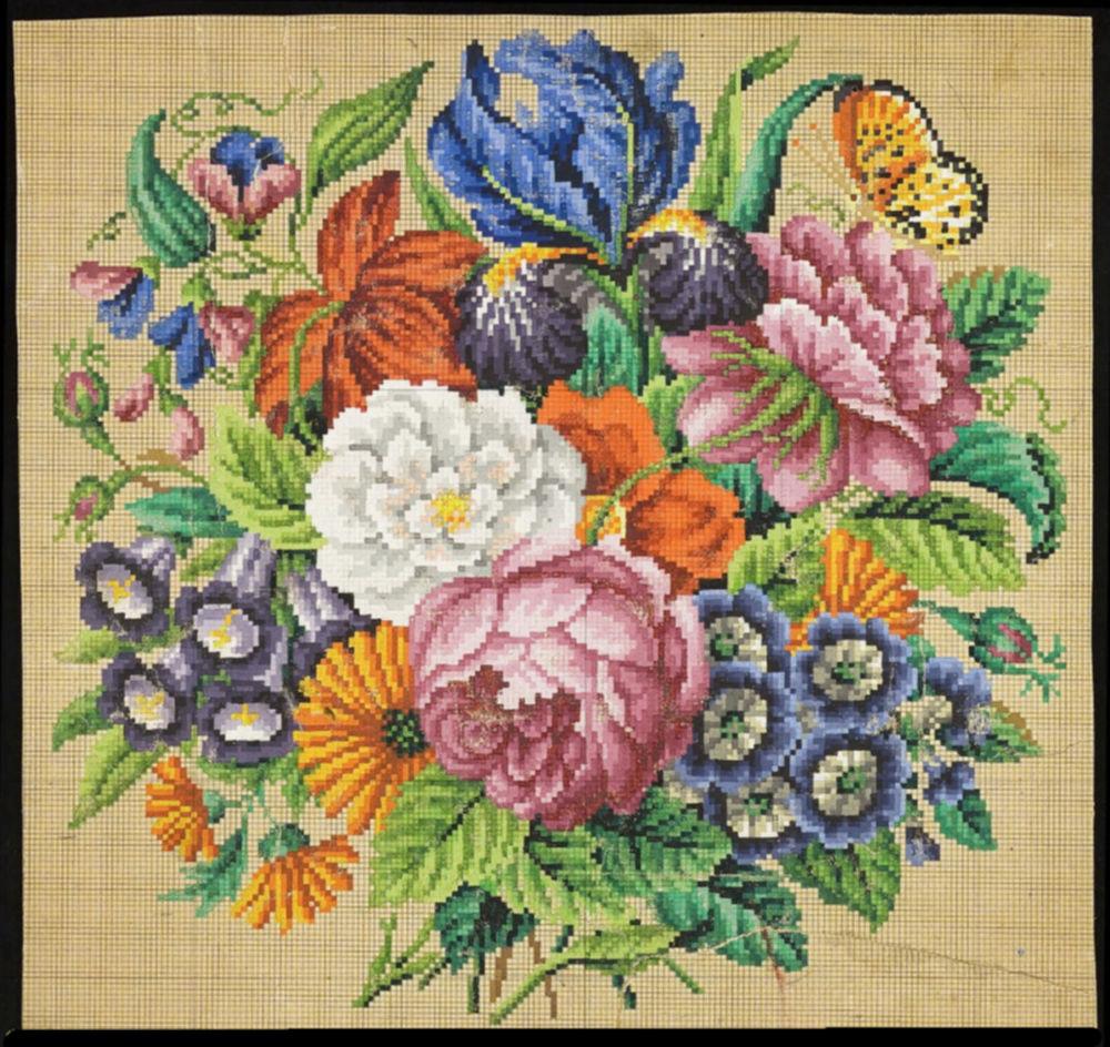 схема вышивки крестом, язык цветов