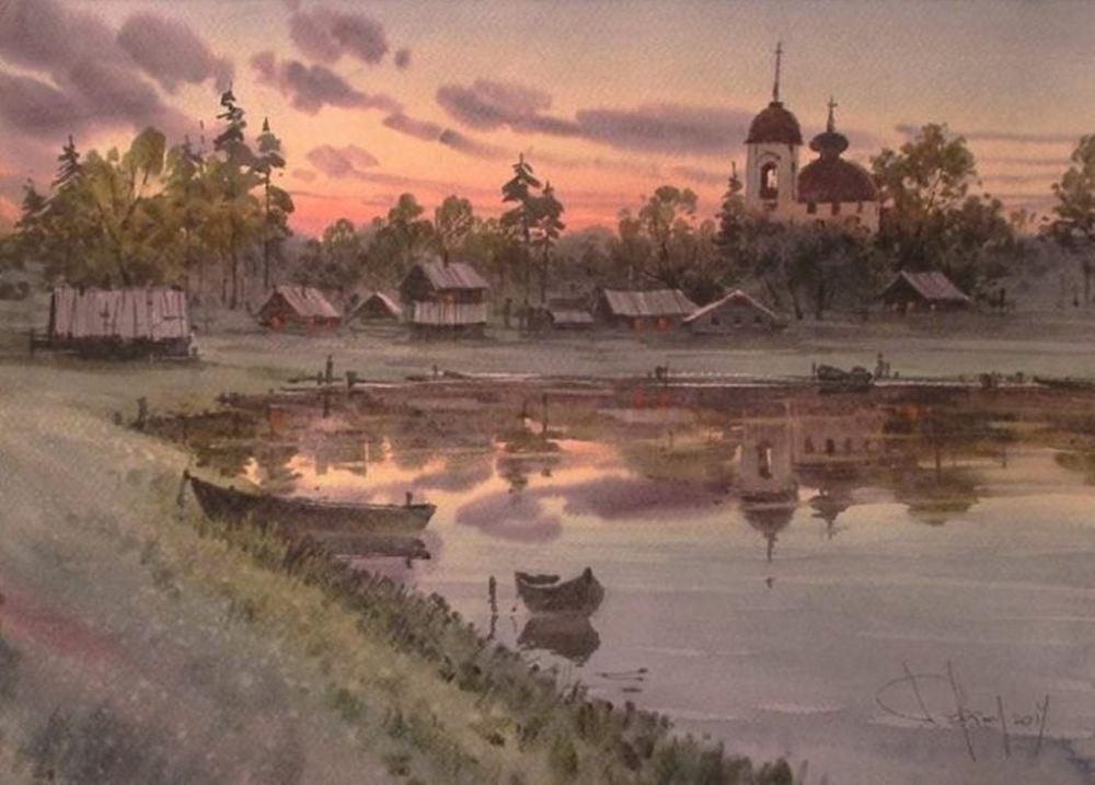 Акварельные пейзажи художника Ильи Горгоца, фото № 26