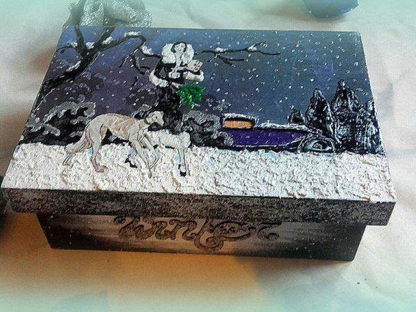 Видео мастер-класс: создаем новогодний декор чайной коробки | Ярмарка Мастеров - ручная работа, handmade