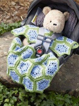 Crocheted Car Seat Blanket Pattern: