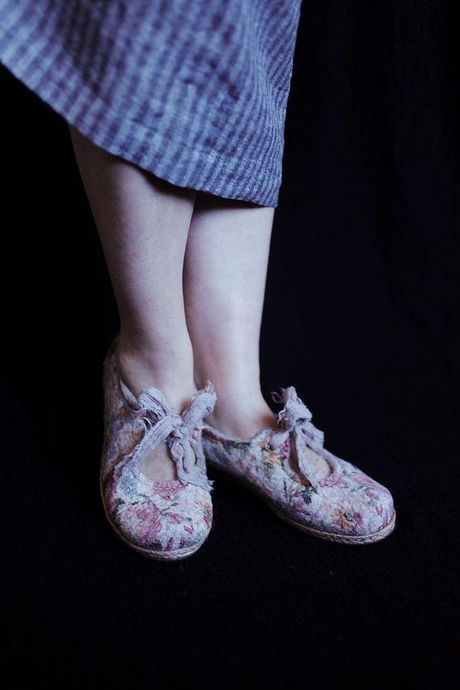 алла халайджи, мк по валянию, валяные туфли, летние туфли войлок