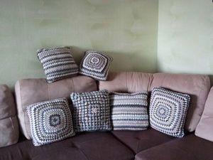 Подарки на Новый Год — подушки вязаные!. Ярмарка Мастеров - ручная работа, handmade.