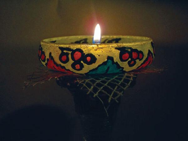 Мастер-класс по декорированию подсвечника «Осенний блюз» | Ярмарка Мастеров - ручная работа, handmade