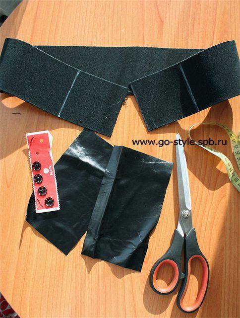 Как сшить пояс из резинки для платья