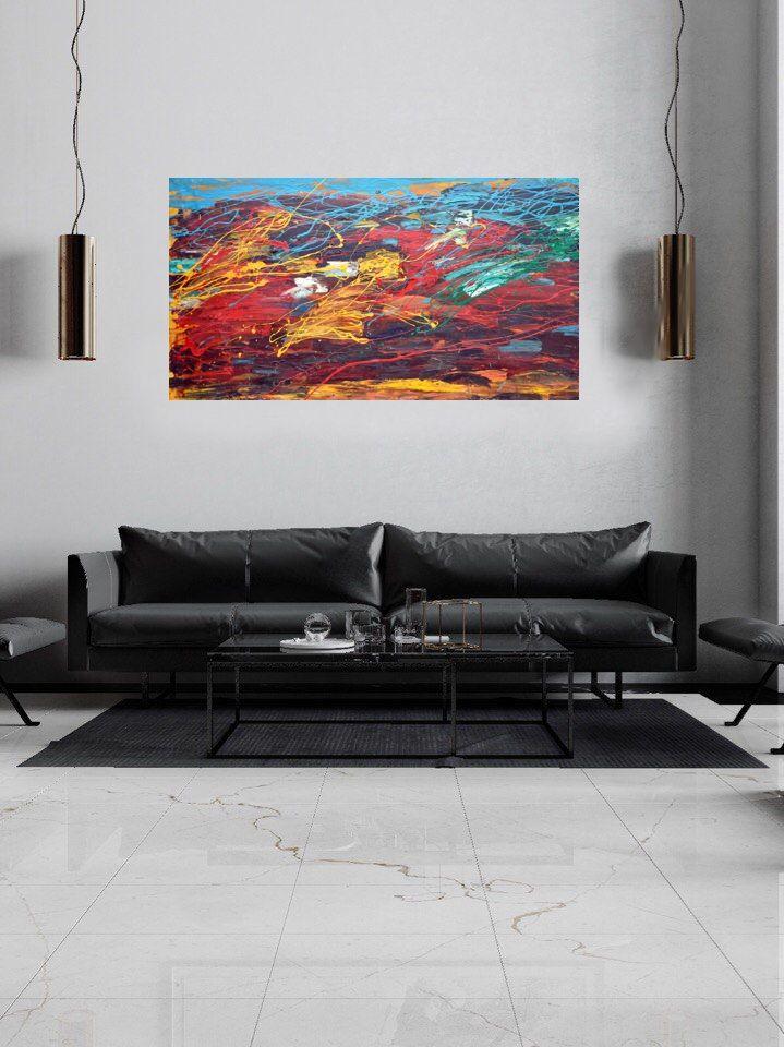 пастозная живопись, картина в лофт, абстрактная живопись