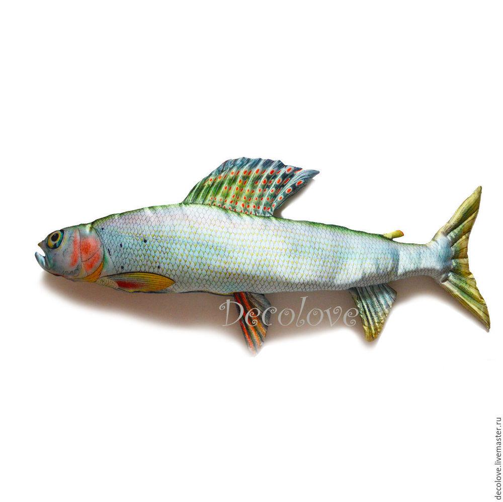 новогодние подарки, подарок мужу, подушка ввиде рыбы