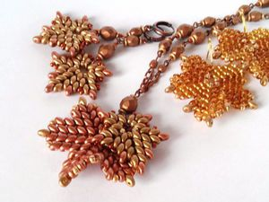 Плетем кленовые листья из бисера и бусин. Ярмарка Мастеров - ручная работа, handmade.