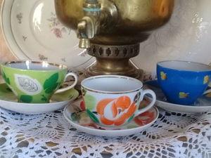 Красивые чайные пары .Советский фарфор. Ярмарка Мастеров - ручная работа, handmade.
