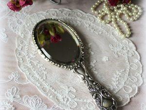 Дополнительные фотографии антикварного серебряного дамского зеркала. Ярмарка Мастеров - ручная работа, handmade.