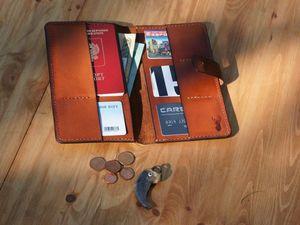 Тревел, или портмоне-клатч для путешествий | Ярмарка Мастеров - ручная работа, handmade