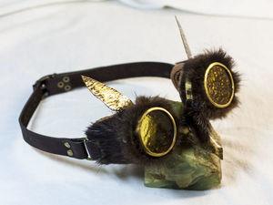 На глазок: стимпанк-гогглы, сделанные мной за разные годы. Часть вторая. Ярмарка Мастеров - ручная работа, handmade.