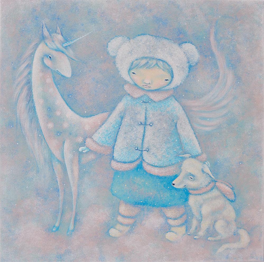 новый год, скоро новый год, зима нашего детства, добрые подарки, снежная лошадка, новогодние подарки, новогодний подарок, картина для детской, подарок девушке, подарок девочке, подарок любимой, подарок дочери, подарок дочке, волшебная зима, картина анны петровой