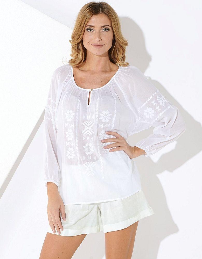 Белое бохо, или Шикарная одежда для королевы летнего пляжа, фото № 30