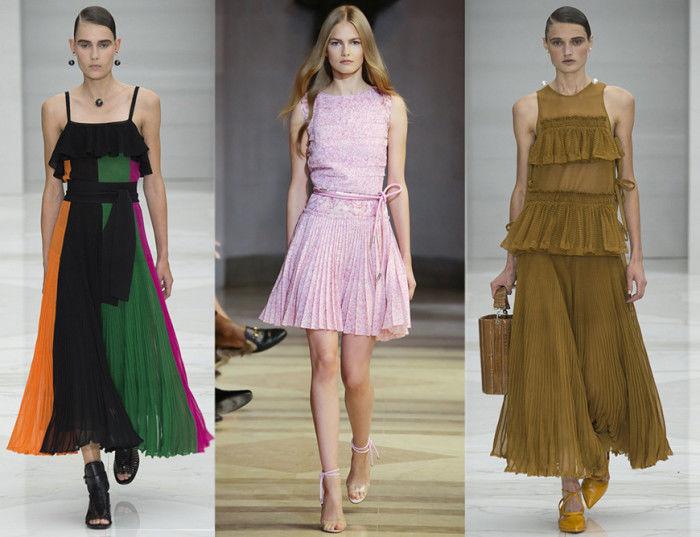 Платья шифон модные тенденции
