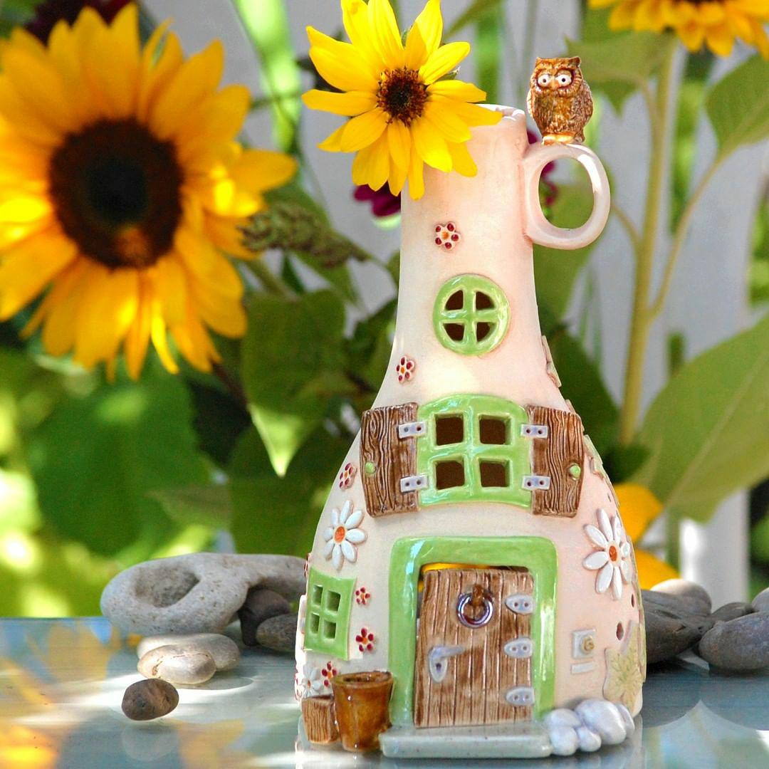 Домики для фей: волшебные керамические подсвечники Antje Rosemann, фото № 24