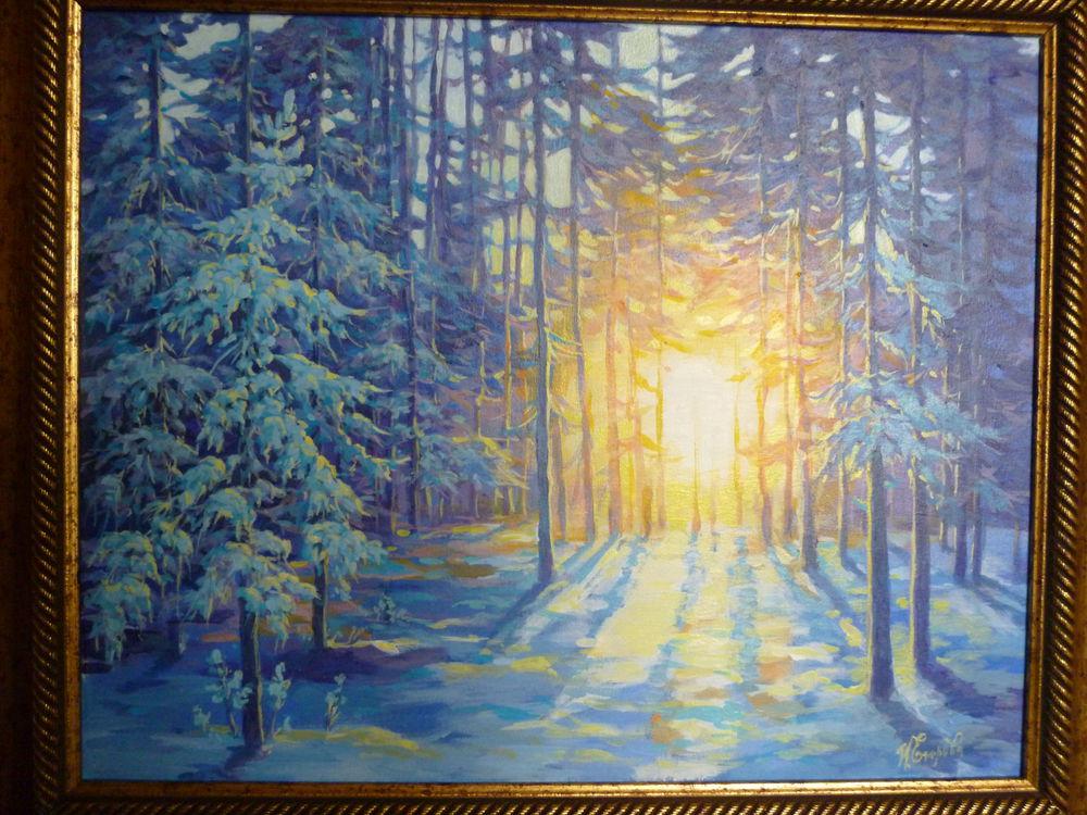 зимний пейзаж, подарок