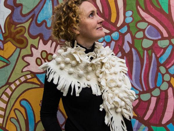Как маленький шарф-боа превратился в большой шарф-бактус | Ярмарка Мастеров - ручная работа, handmade