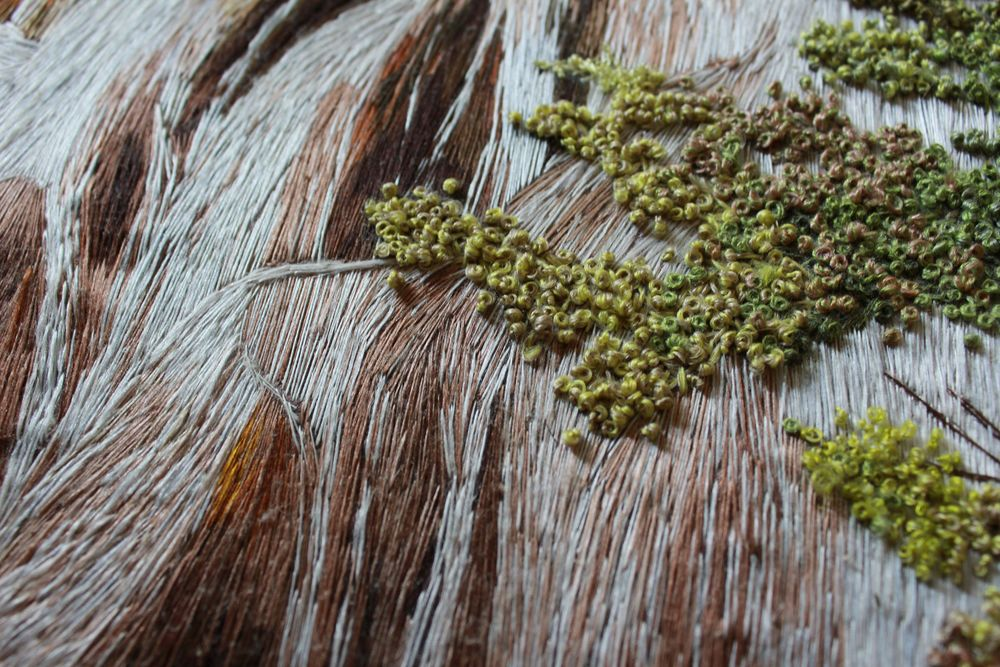 ручная вышивка, мулине