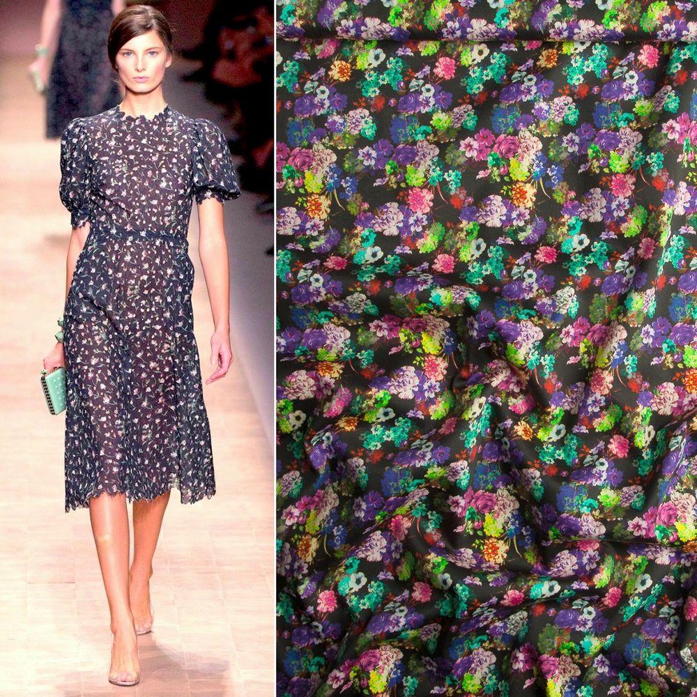 хлопок стретч, платье в цветочек, коктейльное платье, ткани для одежды
