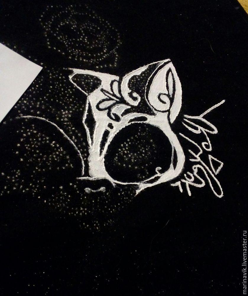 Как перенести рисунок на чёрную ткань, фото № 16