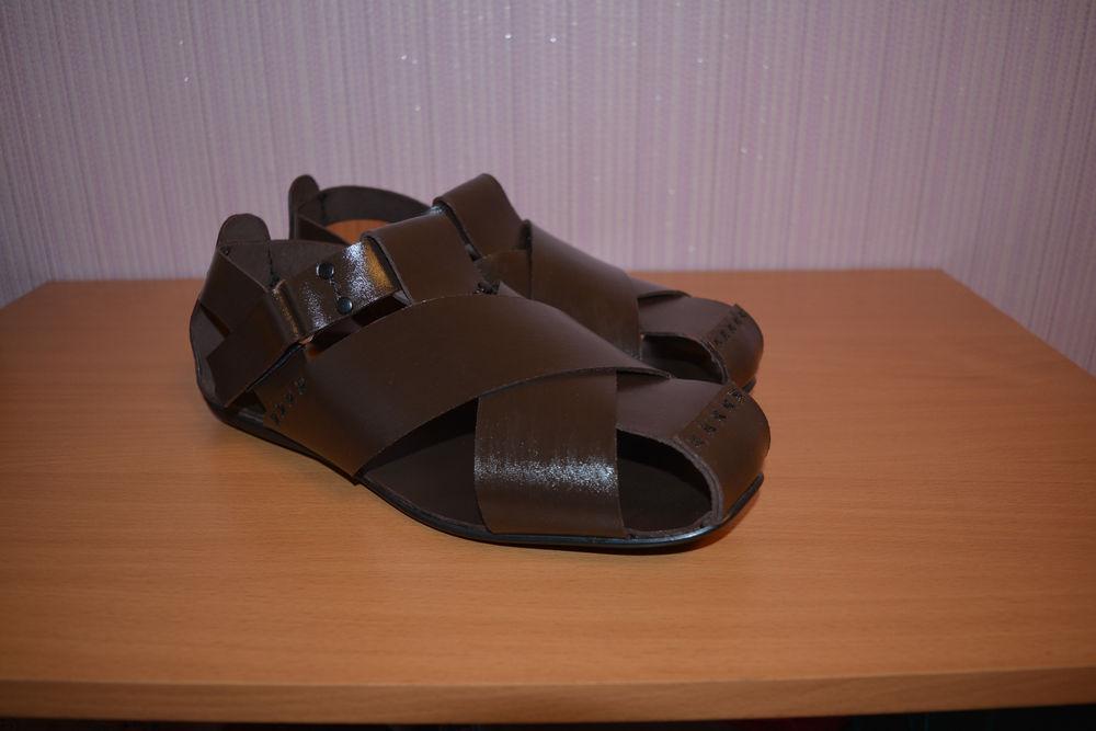 мужские кожаные сандалии, мужские сандалии, мужская обувь
