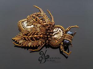 «Цикадида» , брошь цикада. Ярмарка Мастеров - ручная работа, handmade.
