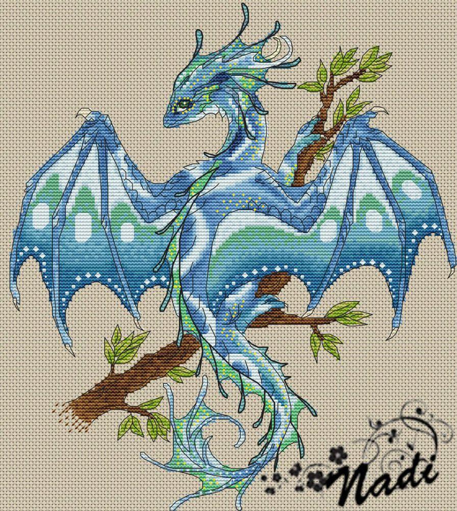 Вышивка крестом дракон схема