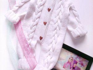 Разыгрываю белоснежный комбинезон на младенца!. Ярмарка Мастеров - ручная работа, handmade.