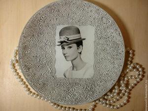 История создания тарелочек с актрисами. Ярмарка Мастеров - ручная работа, handmade.